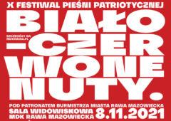 Plakat: X Festiwal Biało-Czerwone Nuty