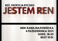 Plakat: Październikowe Kino Konesera - Jestem REN
