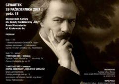 Plakat: Pamięci Chopina i Paderewskiego