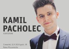 Plakat: Recital chopinowski - Kamil Pacholec