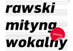 Plakat: XVIII Rawski Mityng Wokalny PRZENOSIMY DO SIECI