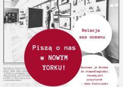 Plakat: Piszą o nas w Nowym Yorku!
