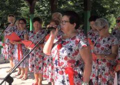 Zdjęcie: Muzykowanie w altanie z rawskimi seniorami
