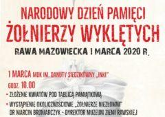 Plakat: Pamięci Żołnierzy Wyklętych