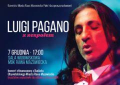 Plakat: Luigi Pagano zaśpiewa włoskie przeboje