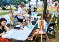Zdjęcie: Lekcja sztuki. Malujemy w plenerze